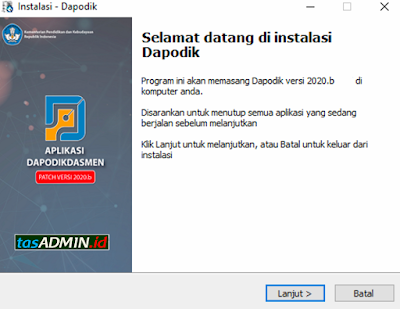 instal patch dapodik 2020b offline