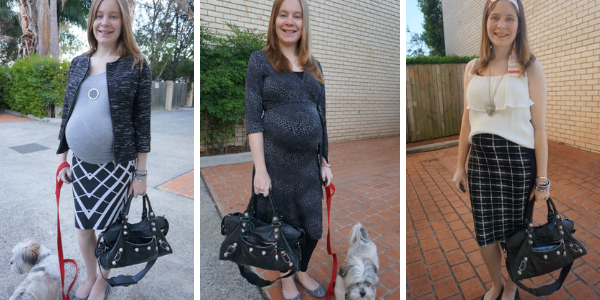 3 outfit ideas ways to wear Balenciaga part time bag in pregnancy | awayfromtheblue