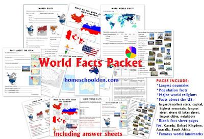 http://homeschoolden.com/2015/07/27/world-facts-packet/
