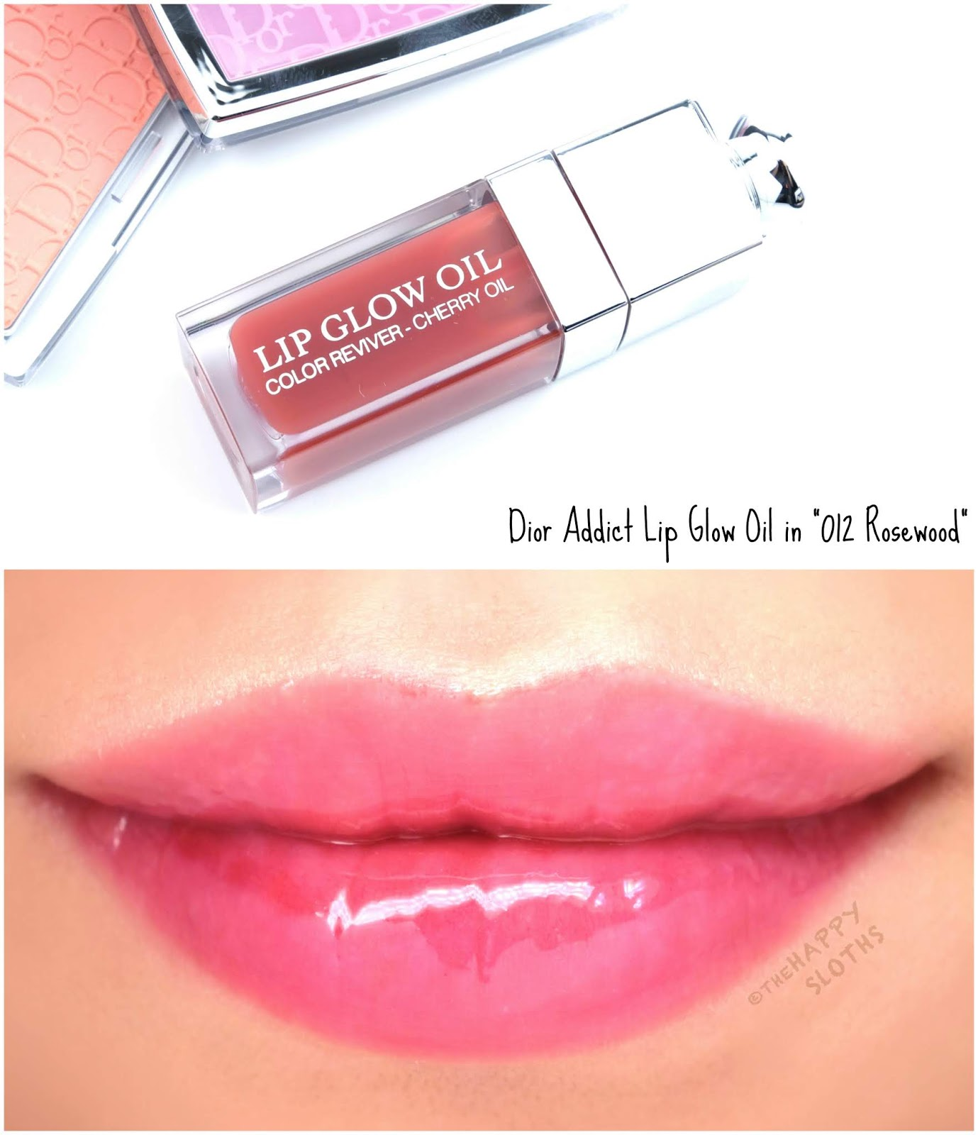 "Dior | Dior Addict Lip Glow Oil in ""012 Rosewood"": Review and Swatches"