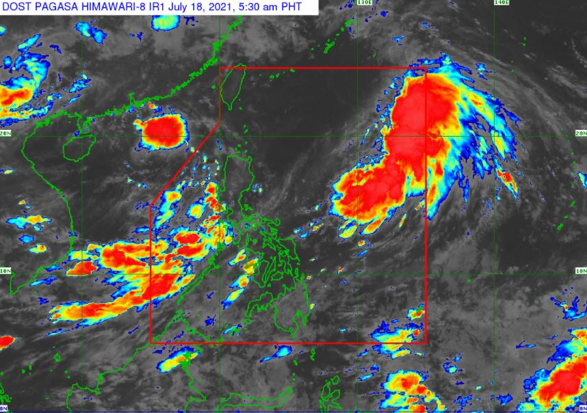 Satellite image of Tropical Storm 'Fabian' as of 5:30 am, July 18, 2021