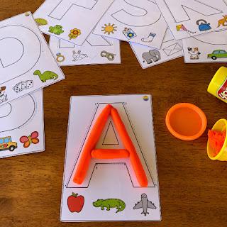 Upper Case Letter Playdough Mats | you clever monkey