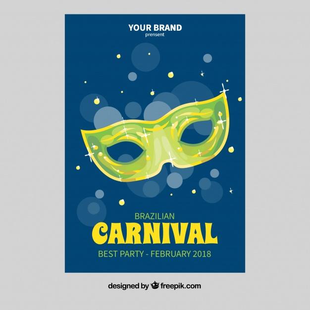 Brazilian carnival flyer Free Vector
