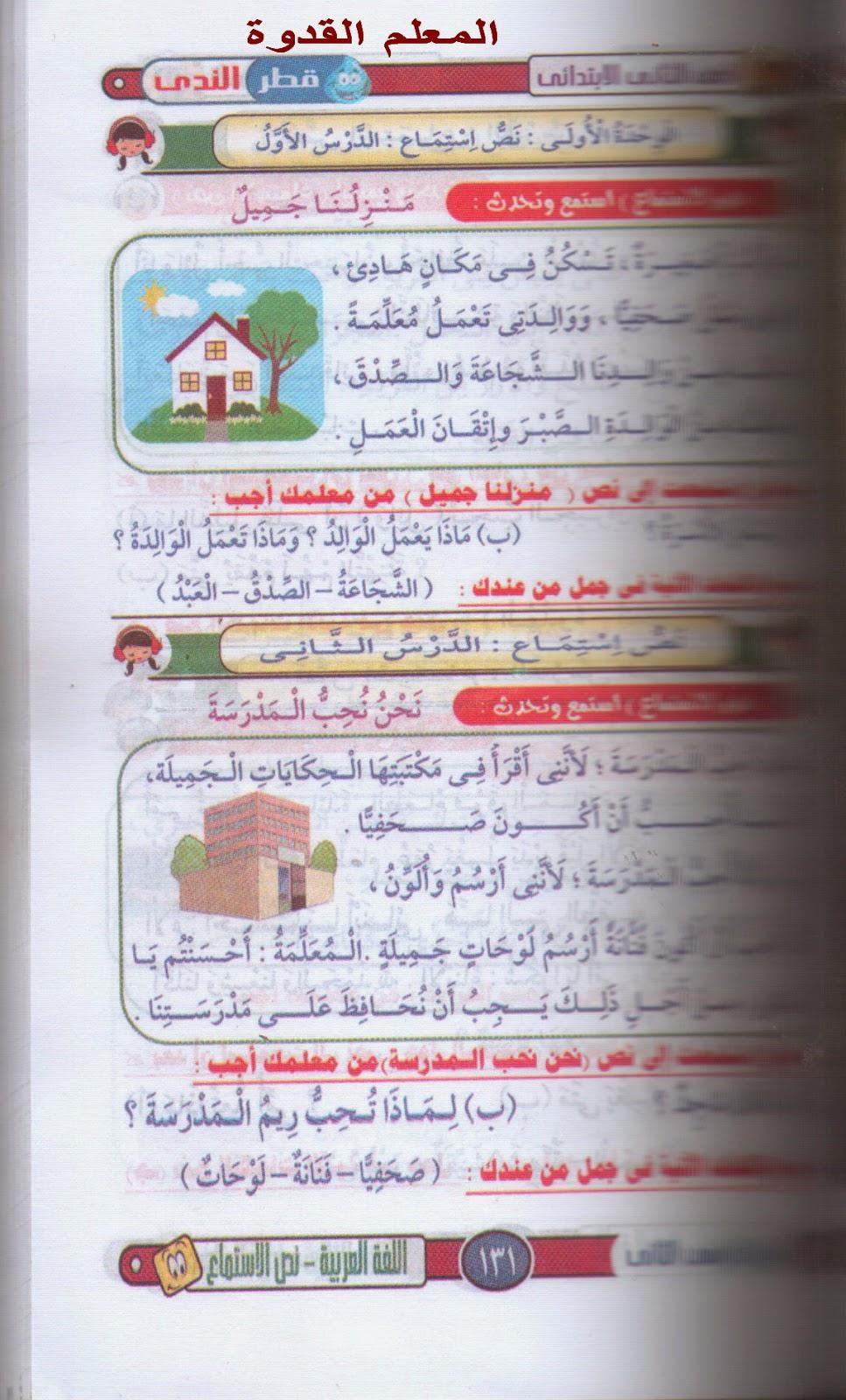 دروس اللغة العربية الكاملة الغير منهجية للصف الثانى الإبتدائى ترم ثانى 2015 1.jpg