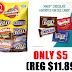 60 Piece, 2 Pound Bag, of Snickers, M&M's and Skittles Candy $5 (Reg $11.89) + Free Shipping With Amazon Prime or $25 Order