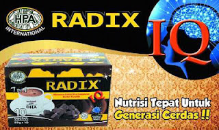 Jual coklat radix IQ Gold hpai Asli minuman herbal plus DHA