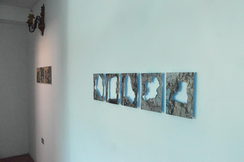 Serie de extracciones de rocas en fotografías del fortín la Cumbre