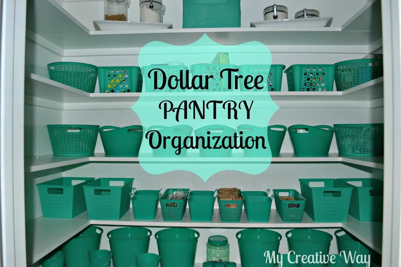 My Creative Way Dollar Tree Pantry Organization