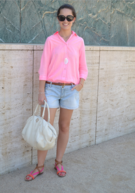 conjunto rosa tejanos pink jeans outfit