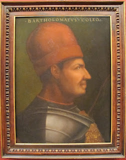 A portrait of Bartolomeo Colleoni by the Italian artist Cristofano dell'altissimo