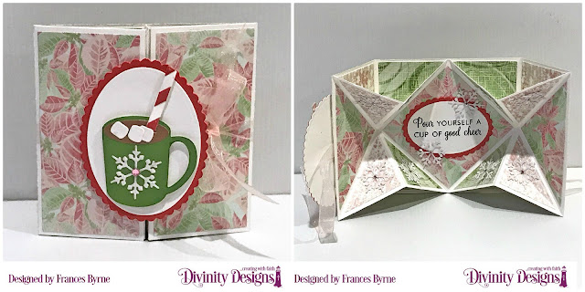 Stamp Die Duos:  Perk Up,  Cocoa & Coffee, Custom Dies: Pop-Out Card with Layers, Ovals, Scalloped Oval,  Paper Collection: Christmas Collection 2018