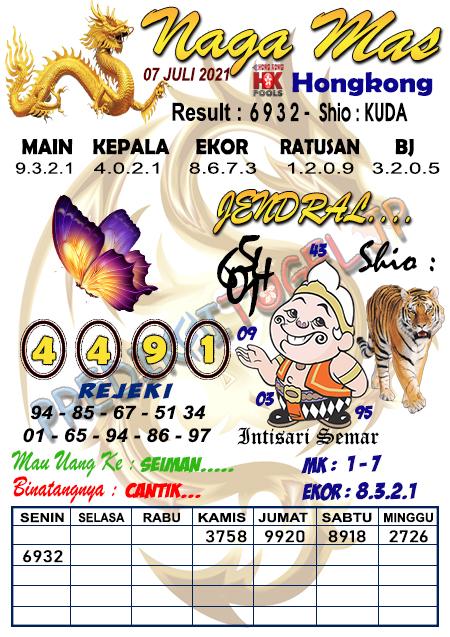 Syair Nagamas HK Rabu 07 Juli 2021