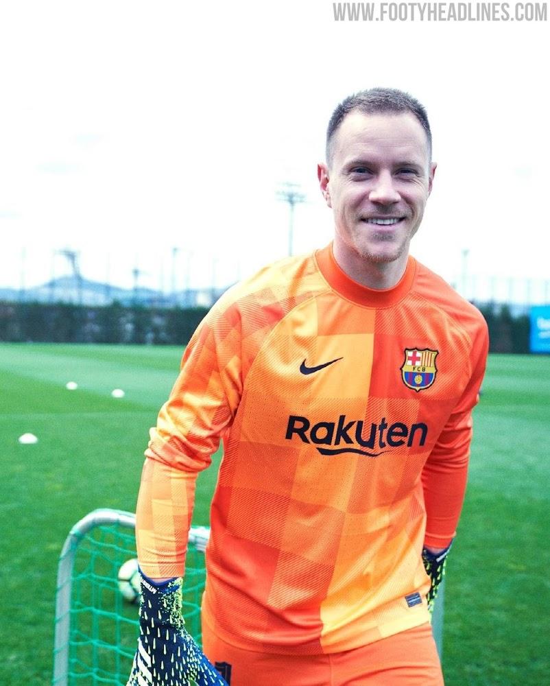 Fc Barcelona 21 22 Goalkeeper Kits Revealed La Liga Only Footy Headlines