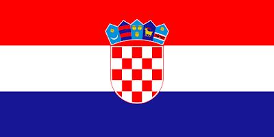 Logo Gambar Bendera Negara Kroasia PNG JPG ukuran 400 px