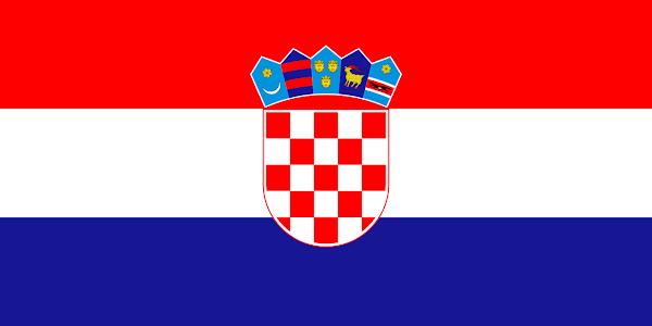 Logo Gambar Bendera Negara Kroasia PNG JPG ukuran 600 px