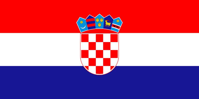 Logo Gambar Bendera Negara Kroasia PNG JPG ukuran 800 px
