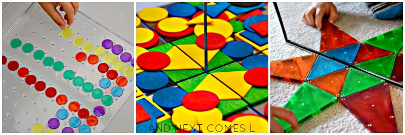 Math activities for kids: patterns & symmetry from And Next Comes L