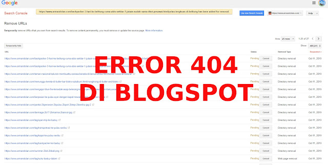 Memperbaiki error 404 di blogspot