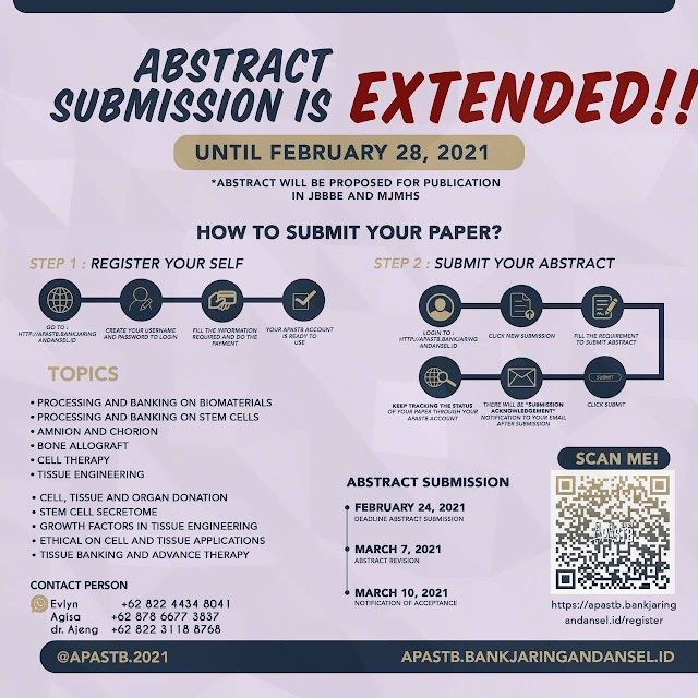 Submit your paper to The 18th International Conference of Asia Pacific Association Surgical Tissue Bank (APASTB) 2021