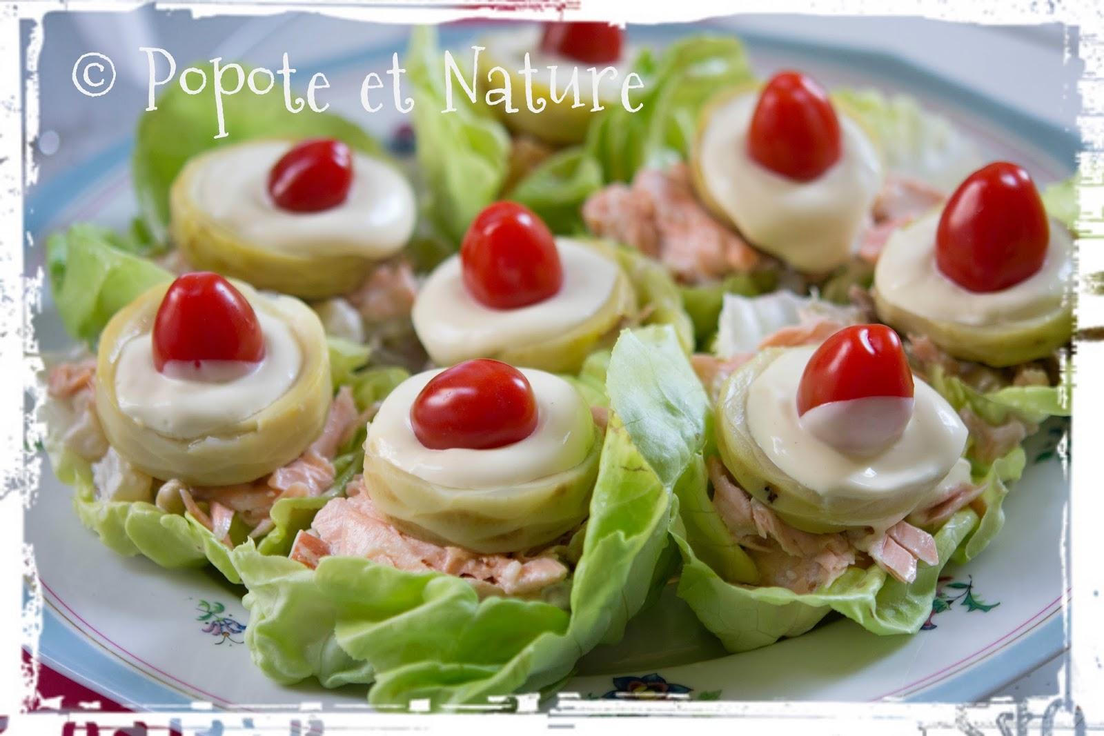 popote et nature salade de demie fain ante au saumon et aux petits l gumes. Black Bedroom Furniture Sets. Home Design Ideas
