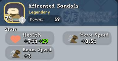 World of Legends Affronted Sandals