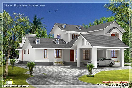 Gable roof house design