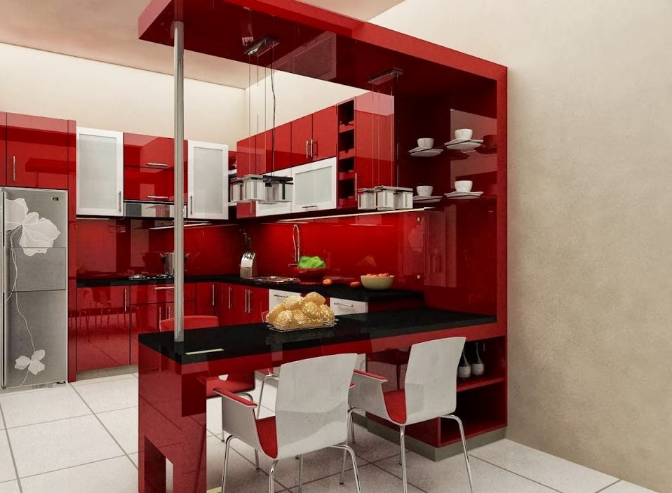 Adharinterior Dsign interior kitchen set dan meja mini bar