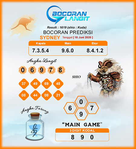 Bocoran Sidney Kamis 18 Juni 2020 - Bocoran Langit