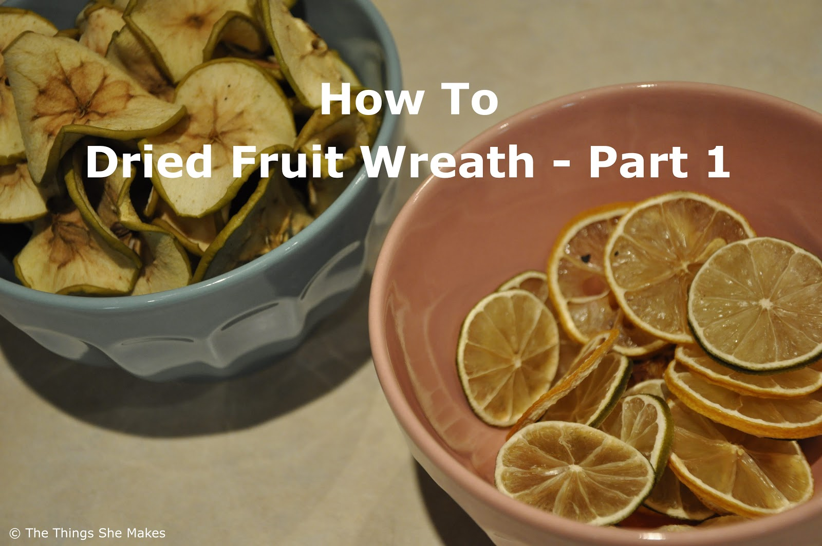 Dried Fruit Wreath Part 1 The