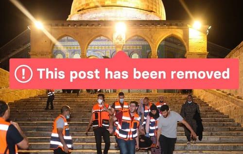 Instagram removes posts from Al-Aqsa Mosque