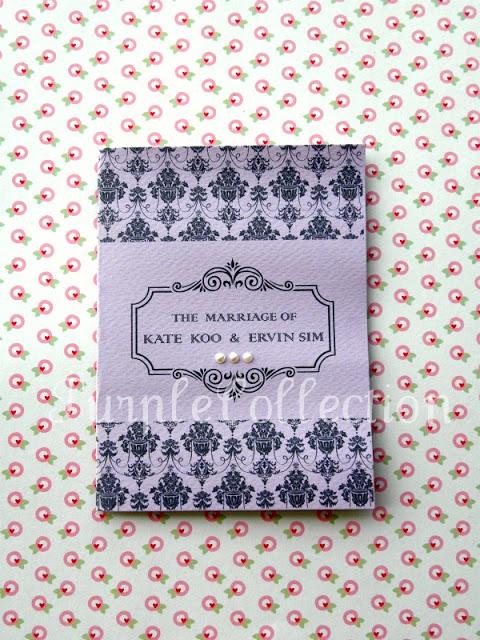 Simple Vintage Purple & Pink Wedding Invitation Cards, Simple, Vintage, Purple, Pink, Wedding Invitation Cards