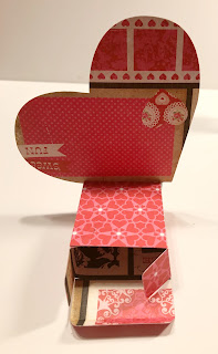 Valentine Candy Box made with SVG file and die-cutting machine
