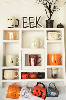 refabulous autumn catch-up post, thrifted shelf coffee station
