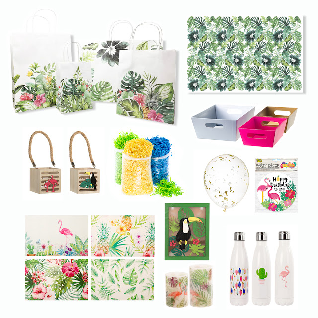let's celebrate: aloha tropical gift giving - party in a box | creativebag.com