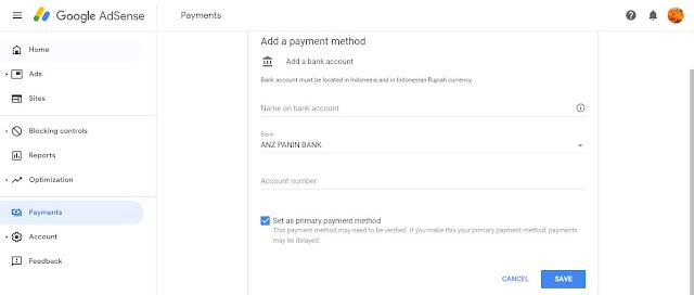 Kelas Informatika - Payment Method Google Adsense