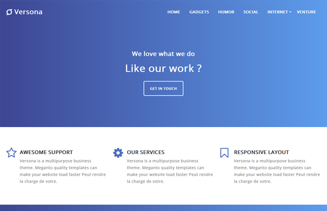 Versona Landing Page - Latest Version Premium Blogger Template Free Download.