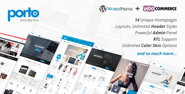 Free Download Porto V2.5.1 Responsive WordPress + Woocommerce Theme