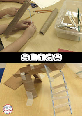 STEM Challenge: Build a playground! Every group build something different. Check this blog post!