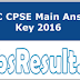 OSSC CPSE Main Answer Key 2016 Paper Solution Cut Off
