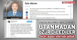 Hüsnü Mahalli ve İsmail Saymaz 24 Haziran seçimleri sonrası özür diledi.