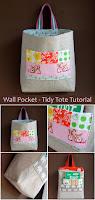 Kidlet: Wall Pocket - Tidy Tote Bag Tutorial