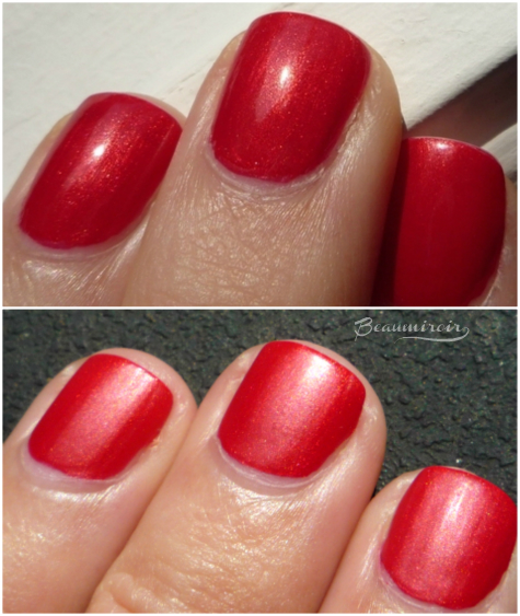 NYC Matte Me Crazy Mattifying Top Coat: before after picture