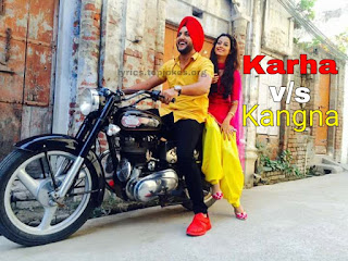KARHA V/S KANGNA LYRICS : Mehtab Virk is back with his Latest Punjabi Song. This song is sung by Mehtab Virk feat by Molina Sodhi and Music is penned by R Guru while lyrics is inked and penned by Deep Arraicha.