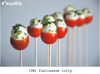 Cherry tomaten, mozzarella en olijf tapenade