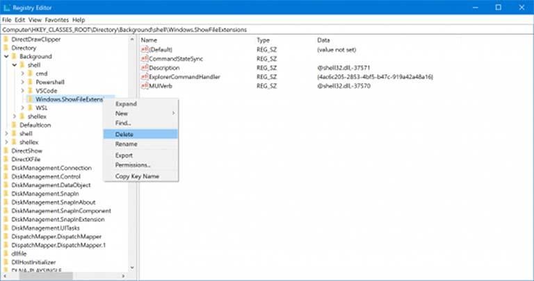 Bagaimana Cara Menambahkan Item Ekstensi Nama File Ke Context Menu Di Windows 10?