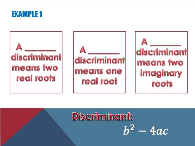 misscalcul8: Teaching the Quadratic Formula