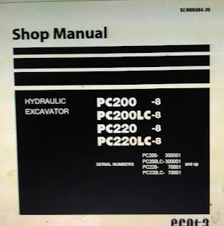 SEN00084-20 PC200 -8 PC200LC-8 PC220 -8 PC220LC-8