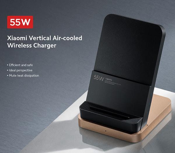 Carregador sem fios Vertical da Xiaomi com dissipação de calor