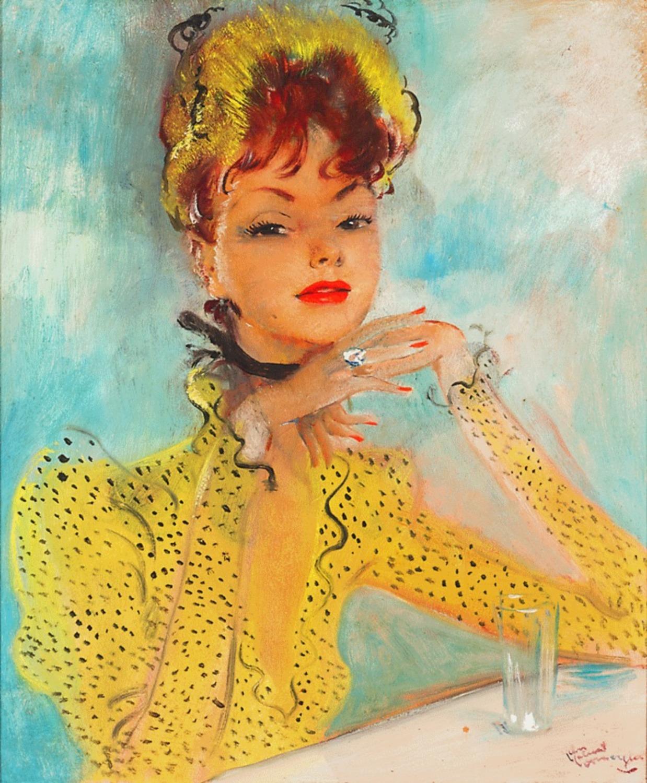Jean Gabriel Domergue Yellow dress