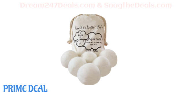 Wool Dryer Balls-Pack of 6 XL 50%OFF